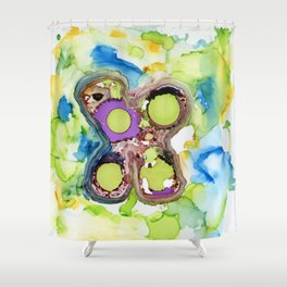 Melted Butterfly Shower Curtain