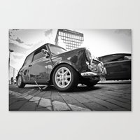 mini cooper Canvas Prints featuring Mini cooper  by Aaron Joslin Photography