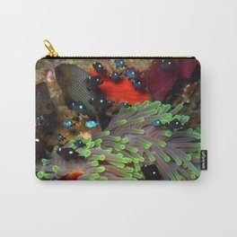 Domino Damselfish in Anemone Carry-All Pouch