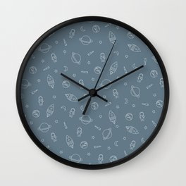 Outer Space Outlines Wall Clock