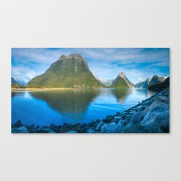 Serene Morning at Milford Sound Canvas Print
