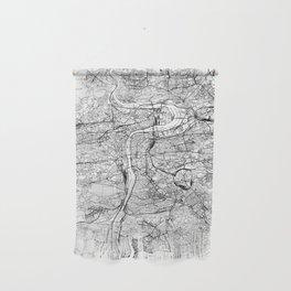 Prague White Map Wall Hanging
