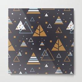 Polar Winter Tree Abstract Pattern Metal Print