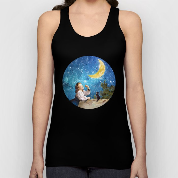 One Wish Upon the Moon Unisex Tank Top