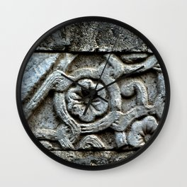 Medieval Carved Stone Wall Wall Clock