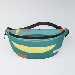 Turquoise Mid Century Modern Fanny Pack