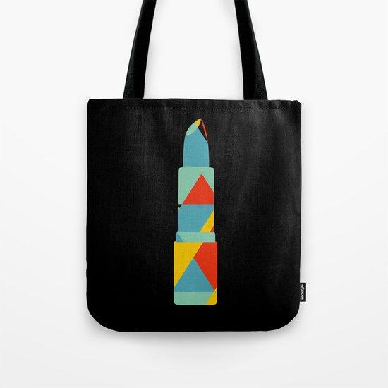 Lipstick Hues on Black Tote Bag
