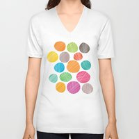 circles V-neck T-shirts featuring Circles by Colorshop