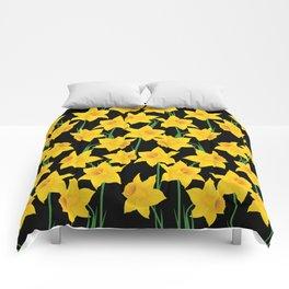 Yellow Daffodils Pattern Comforters
