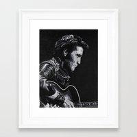 elvis Framed Art Prints featuring Elvis by JeleataNicole
