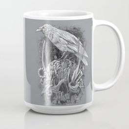 White Raven Coffee Mug