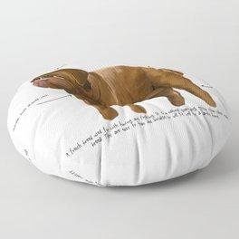 D is for Dogue de Bordeaux Floor Pillow