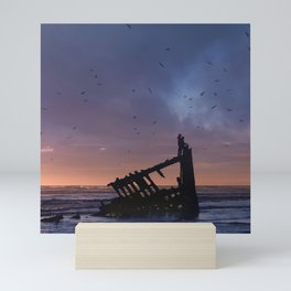 Peter Iredale Shipwreck at Fort Stevens State Park, Oregon. 3 Mini Art Print