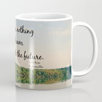 les miserables Mugs featuring Dream to Create the Future Les Miserables Quote by KimberosePhotography