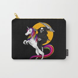 Grim Reaper Riding Unicorn Halloween Carry-All Pouch
