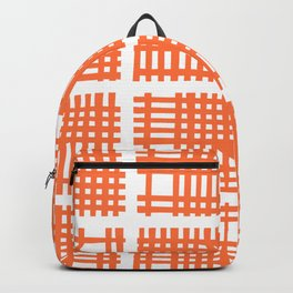 Mid Century Modern Abstract Squares Orange Backpack