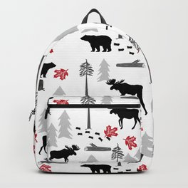 Camping woodland forest nature moose bear pattern nursery gifts Backpack