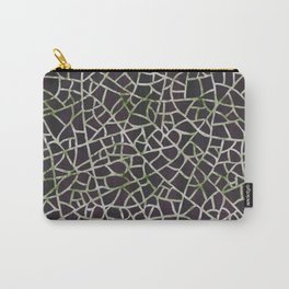 Crackle Magenta Suede Carry-All Pouch