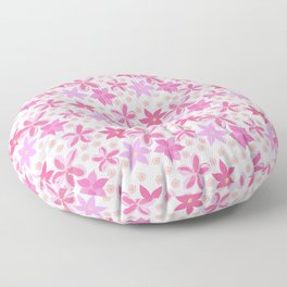 A Profusion Of Pink Floor Pillow