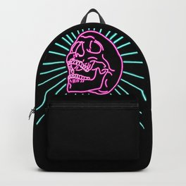 Pink Laughing Skull Backpack