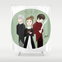 jem Shower Curtains featuring Jem, Tessa, and Will by ImagineSkye