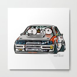 Crazy Car Art 0145 Metal Print