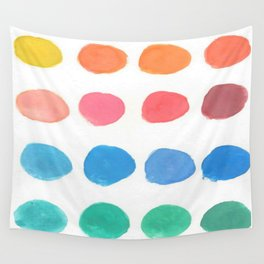 Designer Paint Sample Dots Wall Tapestry