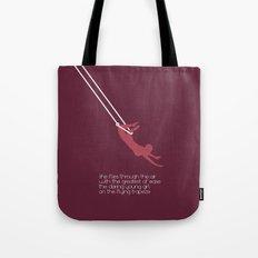 she flies through the air Tote Bag