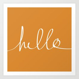 Hello, Pumpkin Art Print