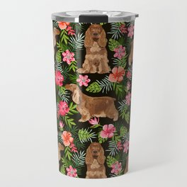 Cocker Spaniel hawaiian tropical print with dog breeds cocker spaniels Travel Mug