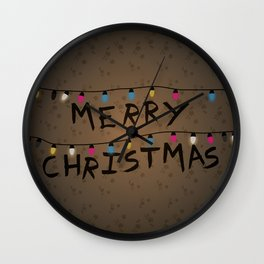 Merry Christmas bulbs Wall Clock