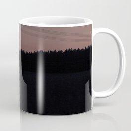Silhouette of electrical towers Coffee Mug