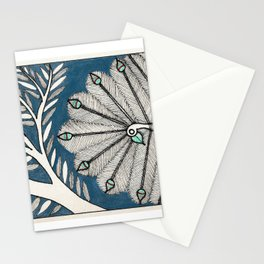 Madhubani Peacock-Colored Stationery Cards