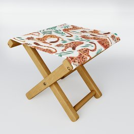 Cheetah Collection – Orange & Green Palette Folding Stool