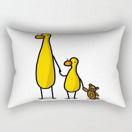 Mama, Baby, and Teddy Rectangular Pillow
