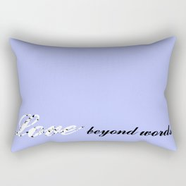 Love Beyond Words (Light Blue) Rectangular Pillow