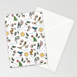 New Zealand Summer Christmas Birds Stationery Cards