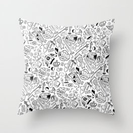 Seinfeld Pattern (White Background) Throw Pillow