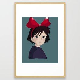 Kiki's Delivery Service -Kiki the Witch Framed Art Print