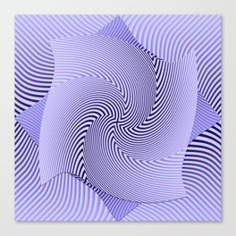 Twirled Stripes Canvas Print