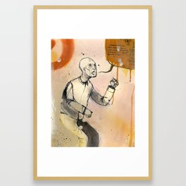 Marching towards you Framed Art Print