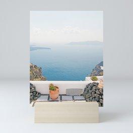 View on Santorini island Mini Art Print