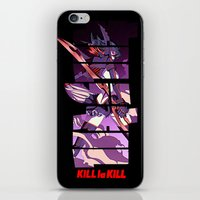 kill la kill iPhone & iPod Skins featuring Kill by feimyconcepts05