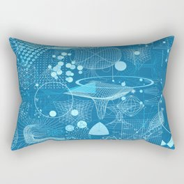 Science Schemes Pattern Rectangular Pillow