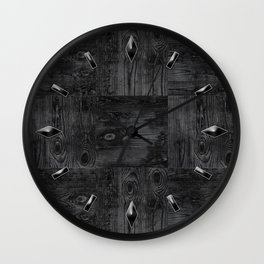 Old boards, old wood, aged wood Wall Clock