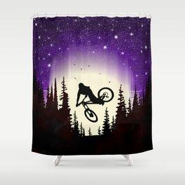 Moon Whip Shower Curtain