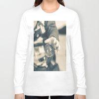 boy Long Sleeve T-shirts featuring Boy by Dora Birgis