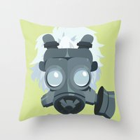 dmmd Throw Pillows featuring Clear. by Dani Does Art