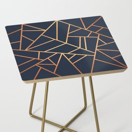 Copper and Midnight Navy Side Table