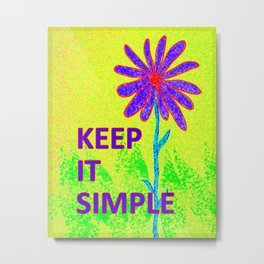 Wildflower Keep It Simple Metal Print
